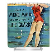 American Postcard, C1950 Shower Curtain