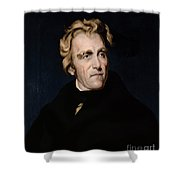 Andrew Jackson, 7th American President Shower Curtain by Photo Researchers