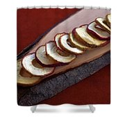 Apple Chips Shower Curtain