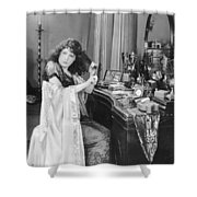 Bedroom Scene, 1920s Shower Curtain
