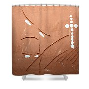 Bless - Tile Shower Curtain