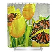 4 Butterflies Shower Curtain