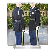 Changing Of Guard At Arlington National Shower Curtain