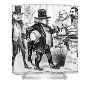 Civil War: Cartoon, 1861 Shower Curtain