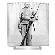 Civil War Soldier Shower Curtain