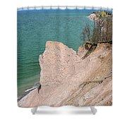 Coastal Erosion Shower Curtain