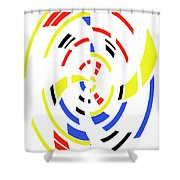 4 Colors Abstract Shower Curtain