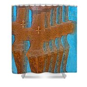 Cyprus Idol Of Pomos Shower Curtain