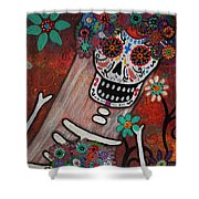 day of the dead BRIDE Shower Curtain