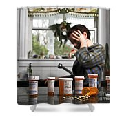 Depression And Addiction Shower Curtain