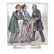 Election Cartoon, 1876 Shower Curtain