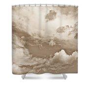 English Summer Sky Shower Curtain