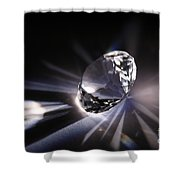Faceted Quartz Gem Shower Curtain