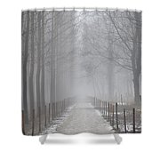 Foggy Road Shower Curtain