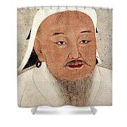 Genghis Khan (1162-1227) Shower Curtain