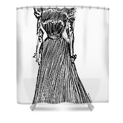 Gibson Girl, 1899 Shower Curtain
