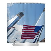 Ground Zero Freedom Tower Shower Curtain