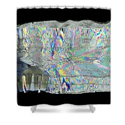 Icicle Cross Section Shower Curtain