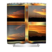 4 In 1 Sunsets Shower Curtain
