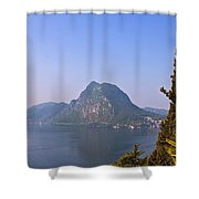 Lago Di Lugano Shower Curtain by Joana Kruse