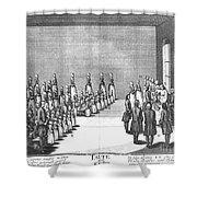 Moravians, 1757 Shower Curtain