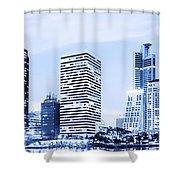 Night Scenes Of City Shower Curtain
