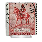 old Australian postage stamp Shower Curtain