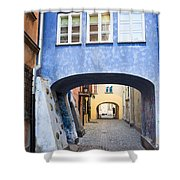 Old Town In Warsaw Shower Curtain