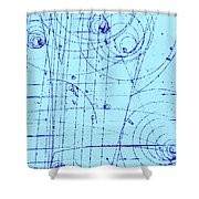 Omega-minus Particle, First Observation Shower Curtain