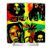 4 One Love Shower Curtain