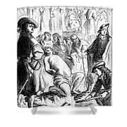 Persecution Of Waldenses Shower Curtain
