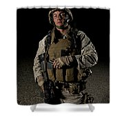 Portrait Of A U.s. Marine Shower Curtain