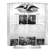 Presidential Campaign 1840 Shower Curtain