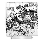 Presidential Campaign, 1928 Shower Curtain