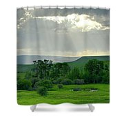 Rain Sun Rays Shower Curtain