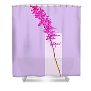Red Orchid Bunch Shower Curtain