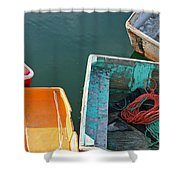 4 Row Boats Shower Curtain