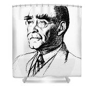 Rudyard Kipling (1865-1936) Shower Curtain