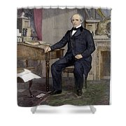 Salmon Portland Chase Shower Curtain by Granger