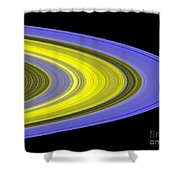Saturns Rings Shower Curtain
