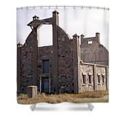 Schott Stone Barn Shower Curtain