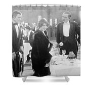 Silent Film: Restaurant Shower Curtain