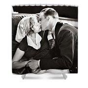 Silent Film Still: Kissing Shower Curtain