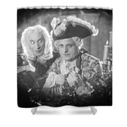 Silent Still: Two Men Shower Curtain