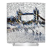 Southbank London Art Shower Curtain