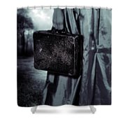 Suitcase Shower Curtain