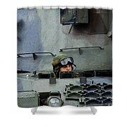 Tank Driver Of A Leopard 1a5 Mbt Shower Curtain