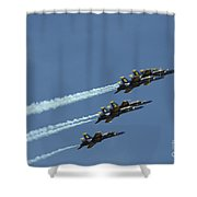 The Blue Angels Perform Aerial Shower Curtain