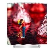 The Lovers In Valentine's Day Shower Curtain