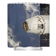The Spacex Dragon Commercial Cargo Shower Curtain